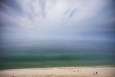 Hazy Day At Sleeping Bear Dunes Poster by Adam Romanowicz