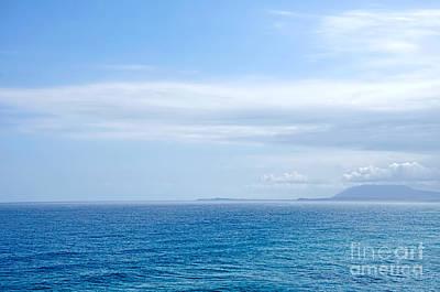 Hazy Ocean View Poster by Kaye Menner