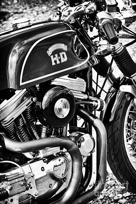 Hd Cafe Racer Monochrome Poster by Tim Gainey