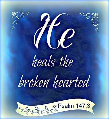 He Heals  Poster by Kathy Bucari