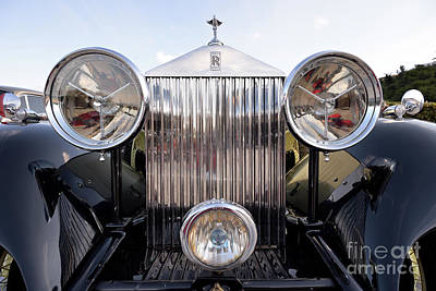 Head Lights Of 1934 Rolls Royce 20/25 Poster