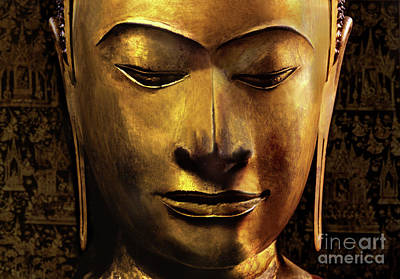 Head Of A Buddha Image Poster by Siamese School