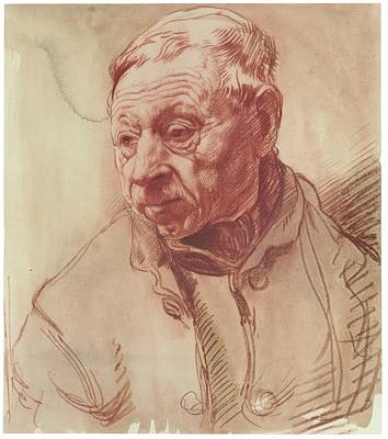 Head Of A Man Poster by Sir William Orpen