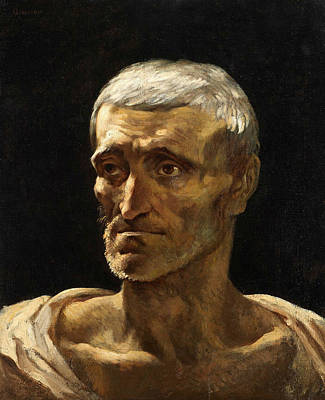 Head Of A Shipwrecked Man  Poster by Theodore Gericault