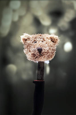 Head Of A Teddy Poster by Joana Kruse