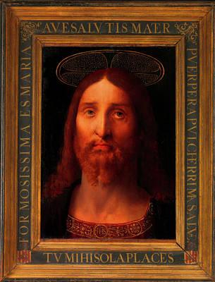 Poster featuring the painting Head Of Christ                                   by Fernando De La Almedina
