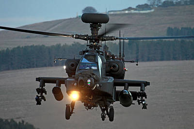 Head On Ah64 Apache Poster