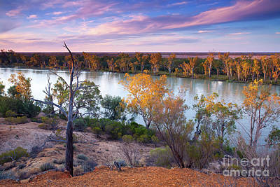 Poster featuring the photograph Heading Cliffs Murray River South Australia by Bill Robinson