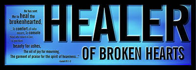 Poster featuring the digital art Healer Of Broken Hearts by Shevon Johnson