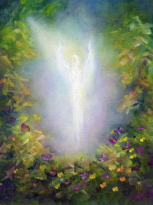 Poster featuring the painting Healing Angel by Marina Petro