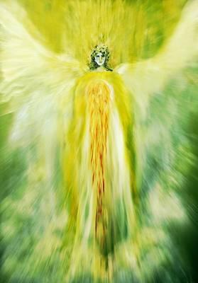 Healing With Golden Light Poster