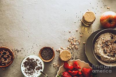 Healthy Breakfast Variety Poster by Mythja Photography