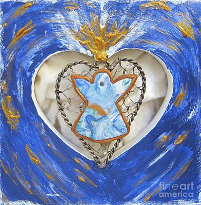 Heart Angel Sparkling Poster by Heidi Sieber