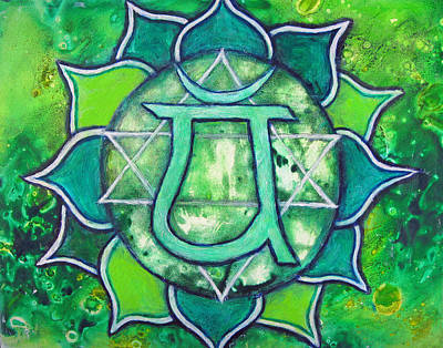 Heart Chakra - Anahata Poster by Mary Pumpelly-Knowland