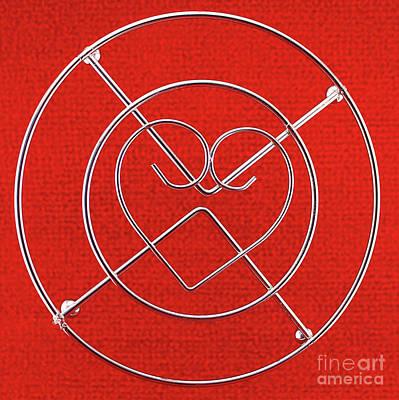 Heart Chromed Wire Poster