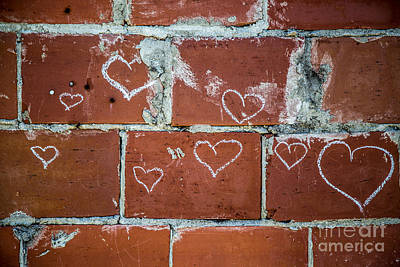Heart Grafitti  Poster by J Darrell Hutto