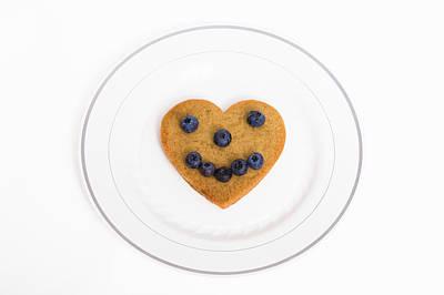 Heart Healthy Pancake Poster by Diane Macdonald