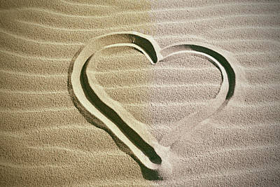 Heart In The Sand Poster