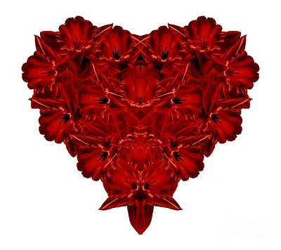 Heart Of Flowers T-shirt Poster by Edward Fielding