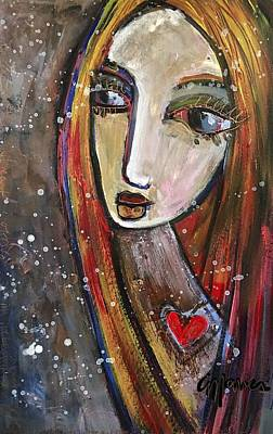 Poster featuring the painting Heart Of Gold by Laurie Maves ART