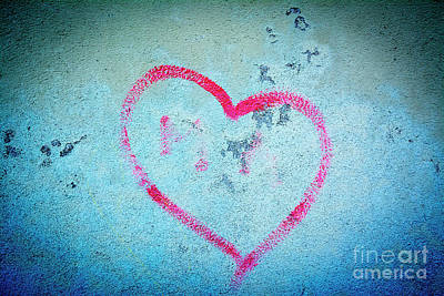Heart Shape On A Wall Poster by Bernard Jaubert