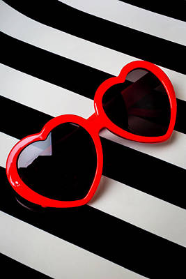 Heart Shaped Sunglasses Poster by Garry Gay