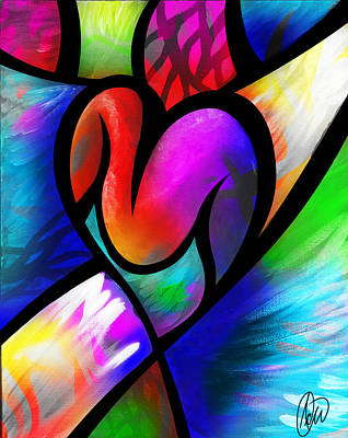 Heart Vectors Poster by AC Williams