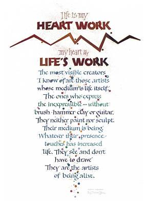 Heart Work Poster