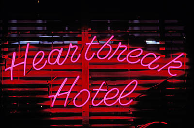 Heartbreak Hotel Neon Poster by Garry Gay