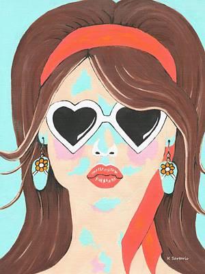 Heartbreaker - Contemporary Woman Art Poster