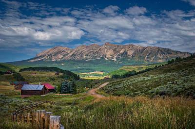 Heartland Of The Colorado Rockies Poster