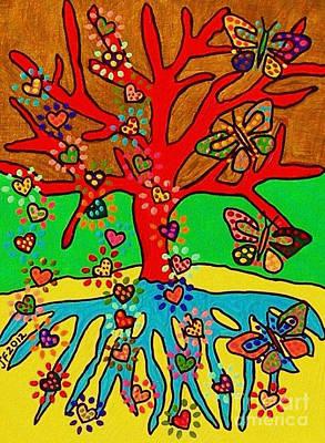 Hearts Grow Into Butterflies Poster