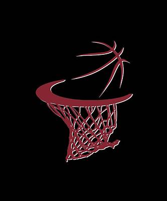 Heat Basketball Hoop Poster by Joe Hamilton