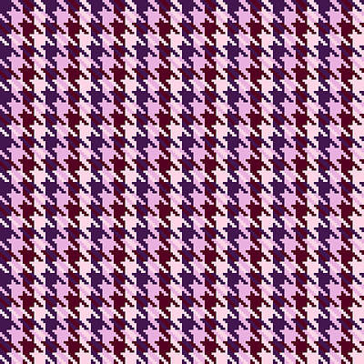 Heather Houndstooth Check Poster by Jane McIlroy