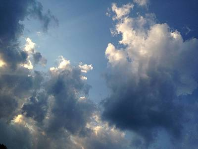 Heavenly Clouds Poster by Lisa Pearlman