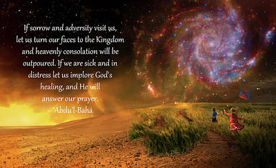 Heavenly Consolation Poster by Baha'i Writings As Art