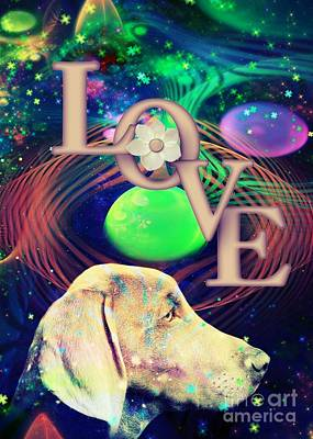 Poster featuring the digital art Heavenly Love by Kathy Tarochione