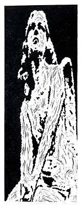 Heavenward --  Hand-pulled  Linoleum Cut Poster by Lynn Evenson