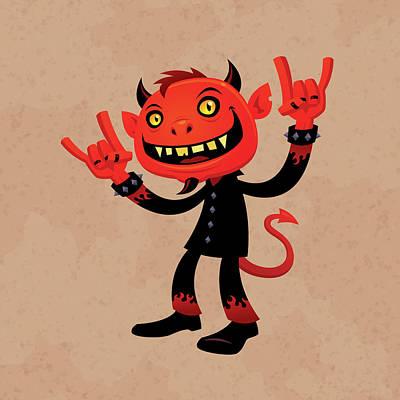 Heavy Metal Devil Poster by John Schwegel