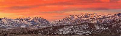 Heber Valley Sunrise Panorama. Poster