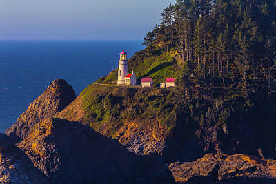 Heceta Head Lighthouse 2 Poster by Garry Gay