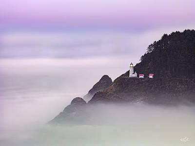 Heceta Head Lighthouse 2 Poster by Leland D Howard