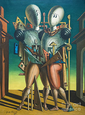 Hector And Andromache By Giorgio De Chirico Poster by Roberto Morgenthaler