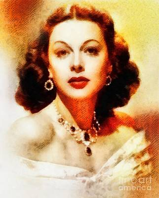 Hedy Lamarr, Vintage Hollywood Actress Poster