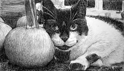 Heffer's Pumpkin Pillow Poster