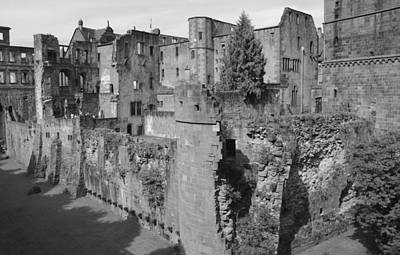 Poster featuring the photograph Heidelberg Castle Behind The Scenes by Corinne Rhode