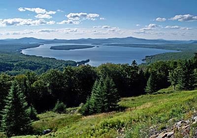 Height Of The Land Overlooking Mooselookmeguntic Lake Poster