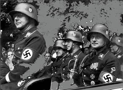 Heinrich Himmler August Heissmeyer Reinhard Heydrich Karl Wolff Richard Walther  1936 Color Added  Poster