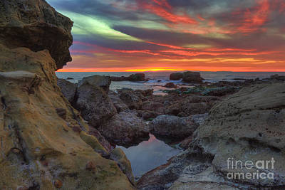Poster featuring the photograph Heisler Park Tide Pools by Eddie Yerkish