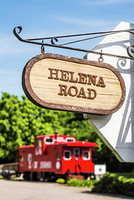 Poster featuring the photograph Helena Road Sign by Parker Cunningham